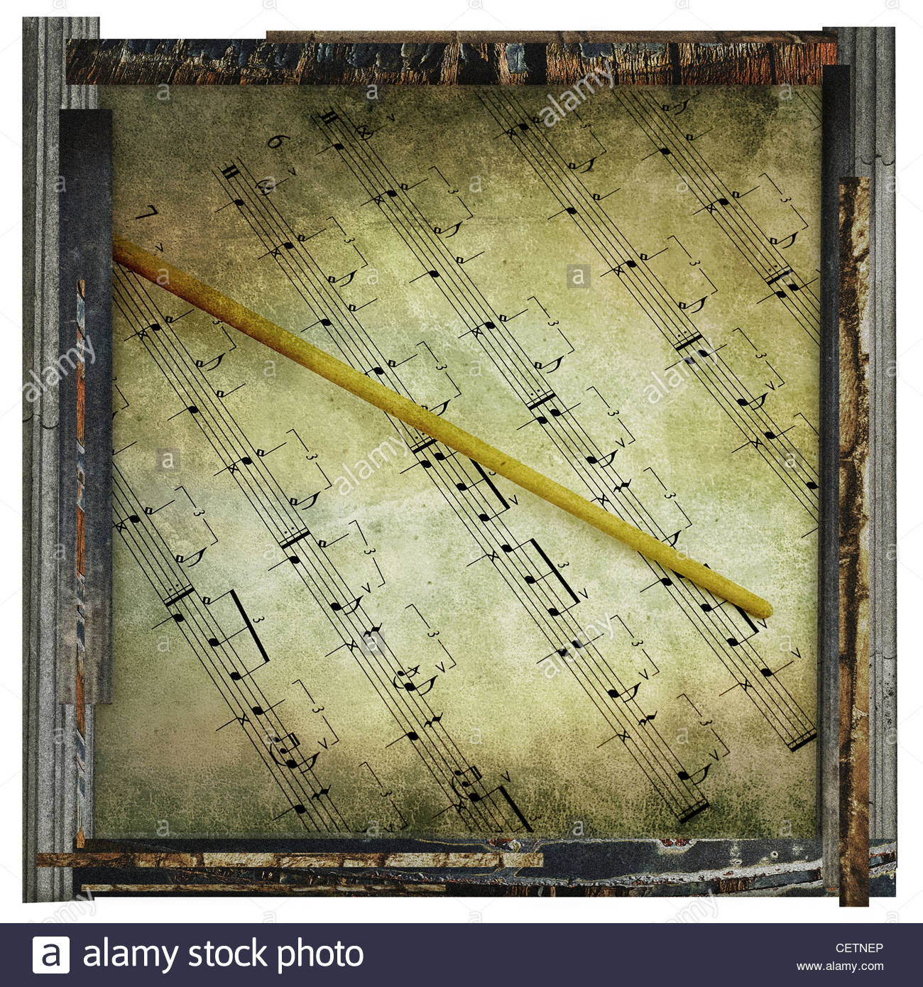 Music Notes Border Musical Background Stock Photos & Music Notes ...