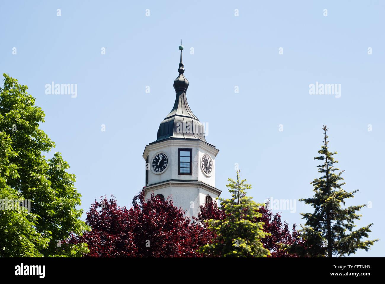 Belgrade: Bell tower in Kalemegdan park - Stock Image