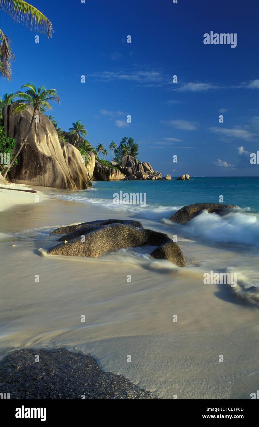 Anse Source d'Argent, La Digue, Seychelles - Stock Image
