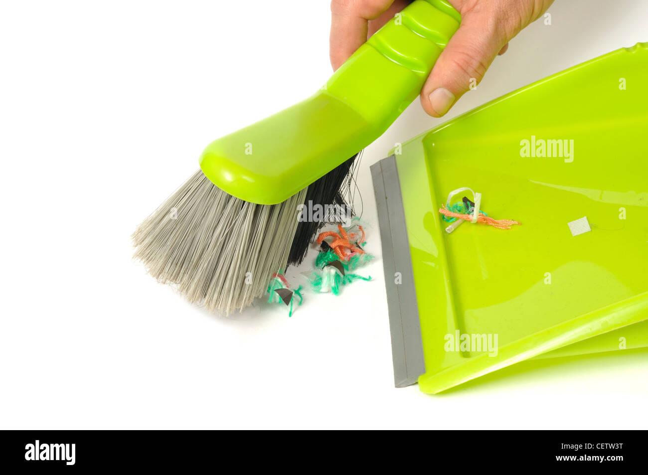Brush and Dustpan - Stock Image