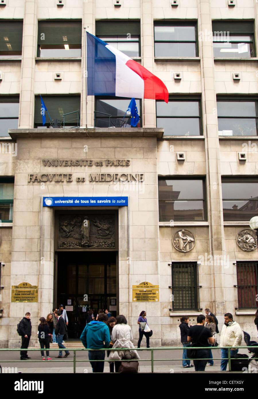 Medical Faculty University of Paris Rene Descartes Rue des Saints Peres - Stock Image