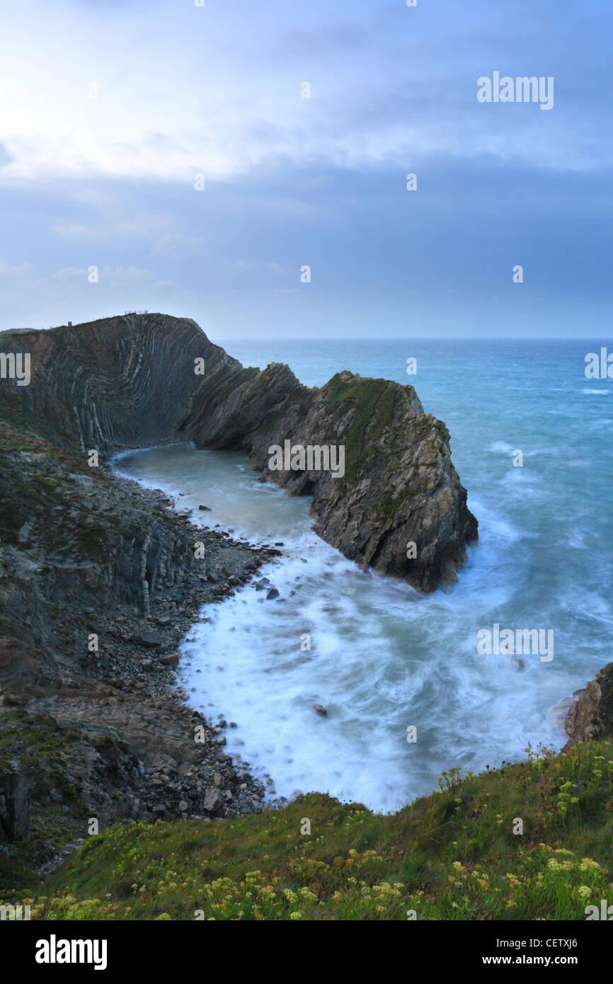 Stair Hole Dorset Jurrasic Coastline, Durdle Door, Lulworth Cove, England UK - Stock Image