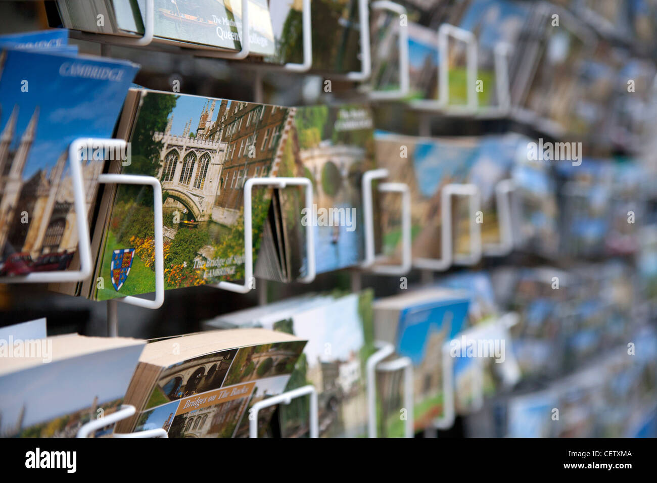 Postcards Cambridge Kings Parade - Stock Image