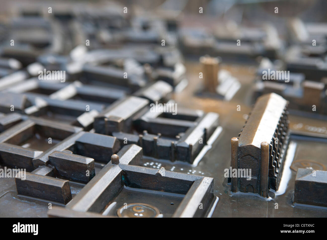 Sculpture miniature model Cambridge Kings Parade - Stock Image