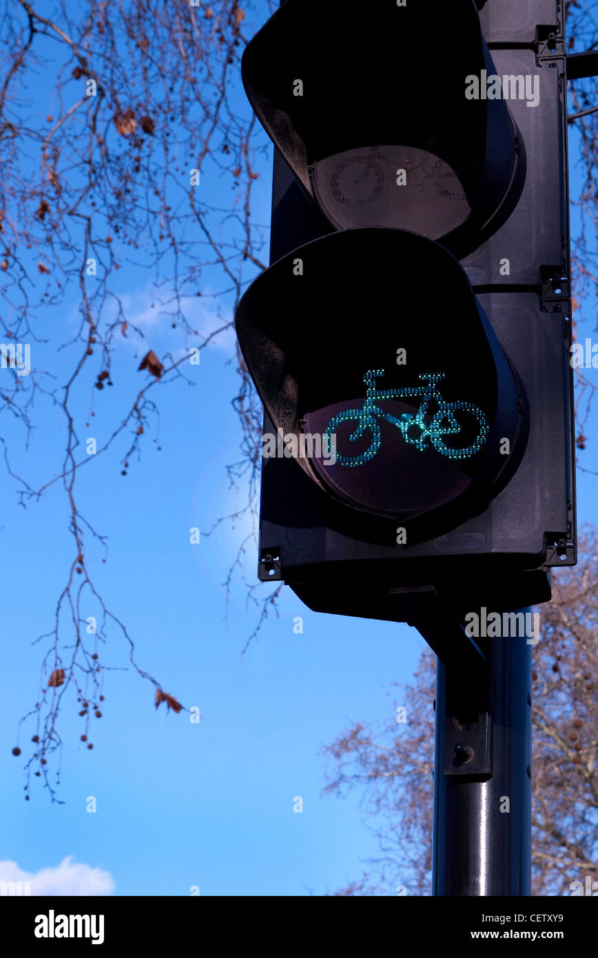 Bike Lane traffic signal - Stock Image