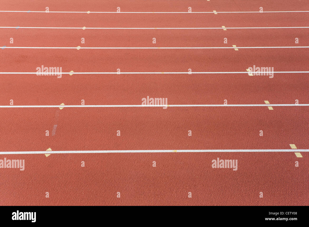 Lanes of running track - Stock Image