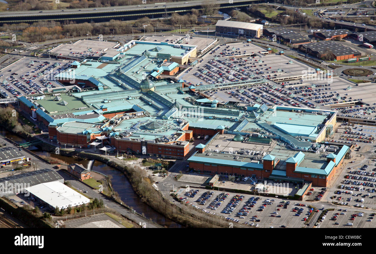 Aerial image of Meadowhall Shopping Centre, Sheffield - Stock Image