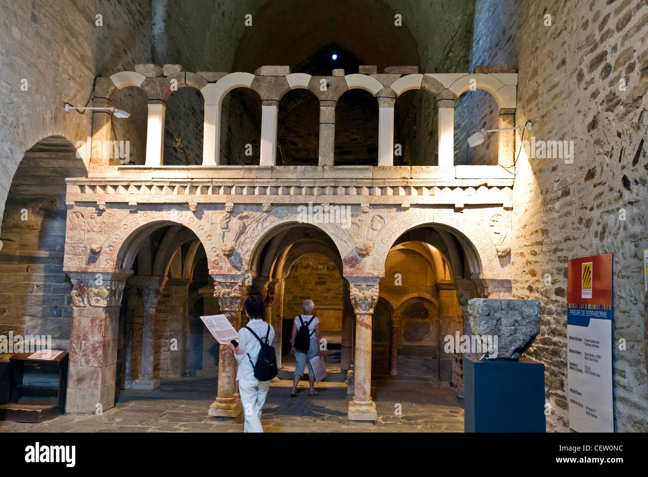 The Rostrum, the  Monastery of Prieurè - Serrabone Priory - Stock Image