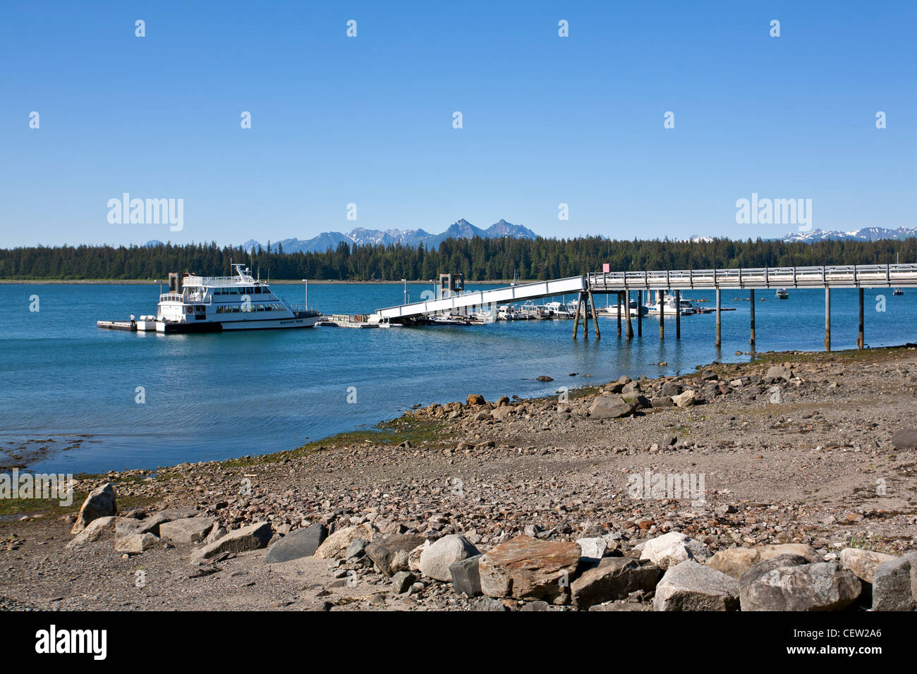 Bartlett Cove jetty. Glacier Bay National Park. Alaska. USA - Stock Image