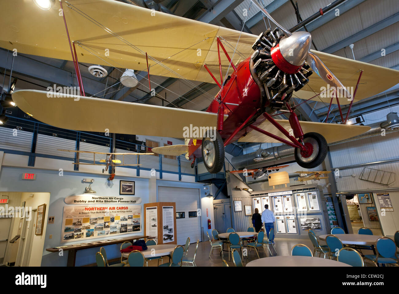 1928 Stearman C2B. Alaska Aviation Museum. Anchorage. Alaska. USA - Stock Image