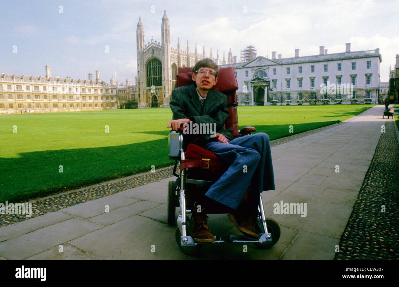Stephen Hawkins in Cambridge - Stock Image