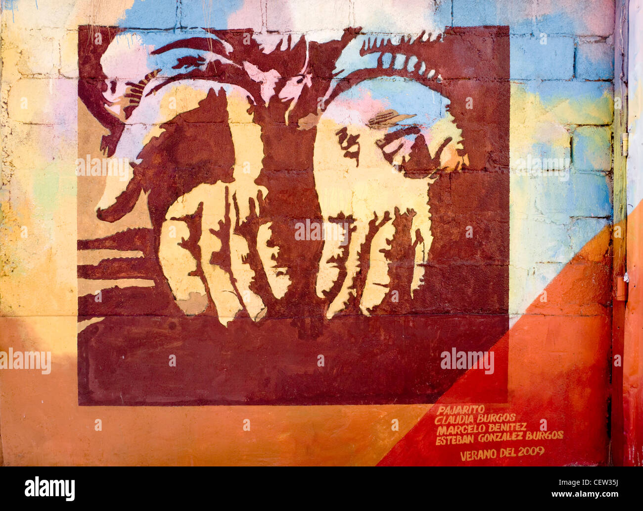 ValparaIso, Chile. South America. Mural. Cerro Bellavista. (Editorial Usage Only) - Stock Image
