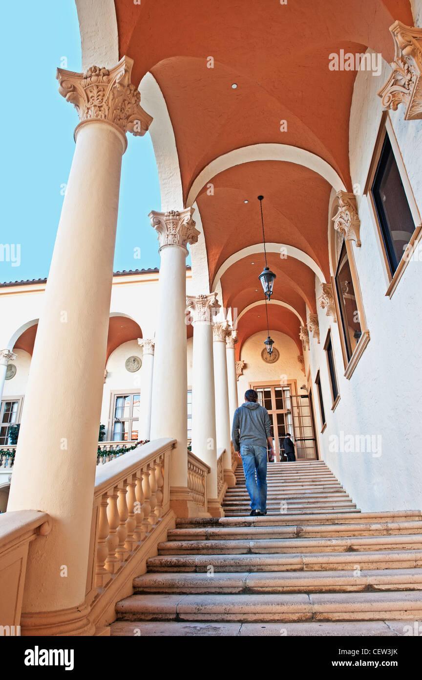 Stairway at Biltmore Hotel - Stock Image