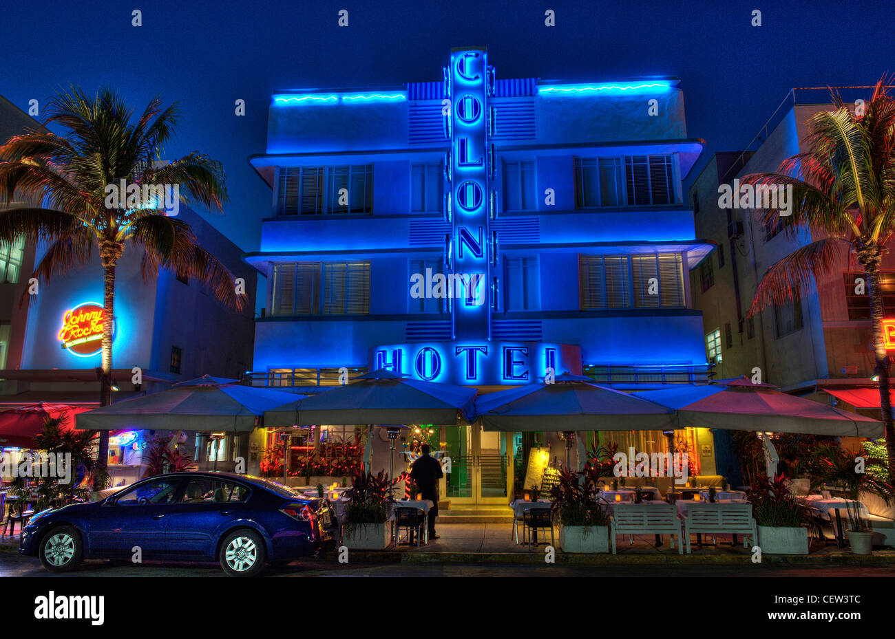 Colony Hotel South Beach Miami Florida - Stock Image