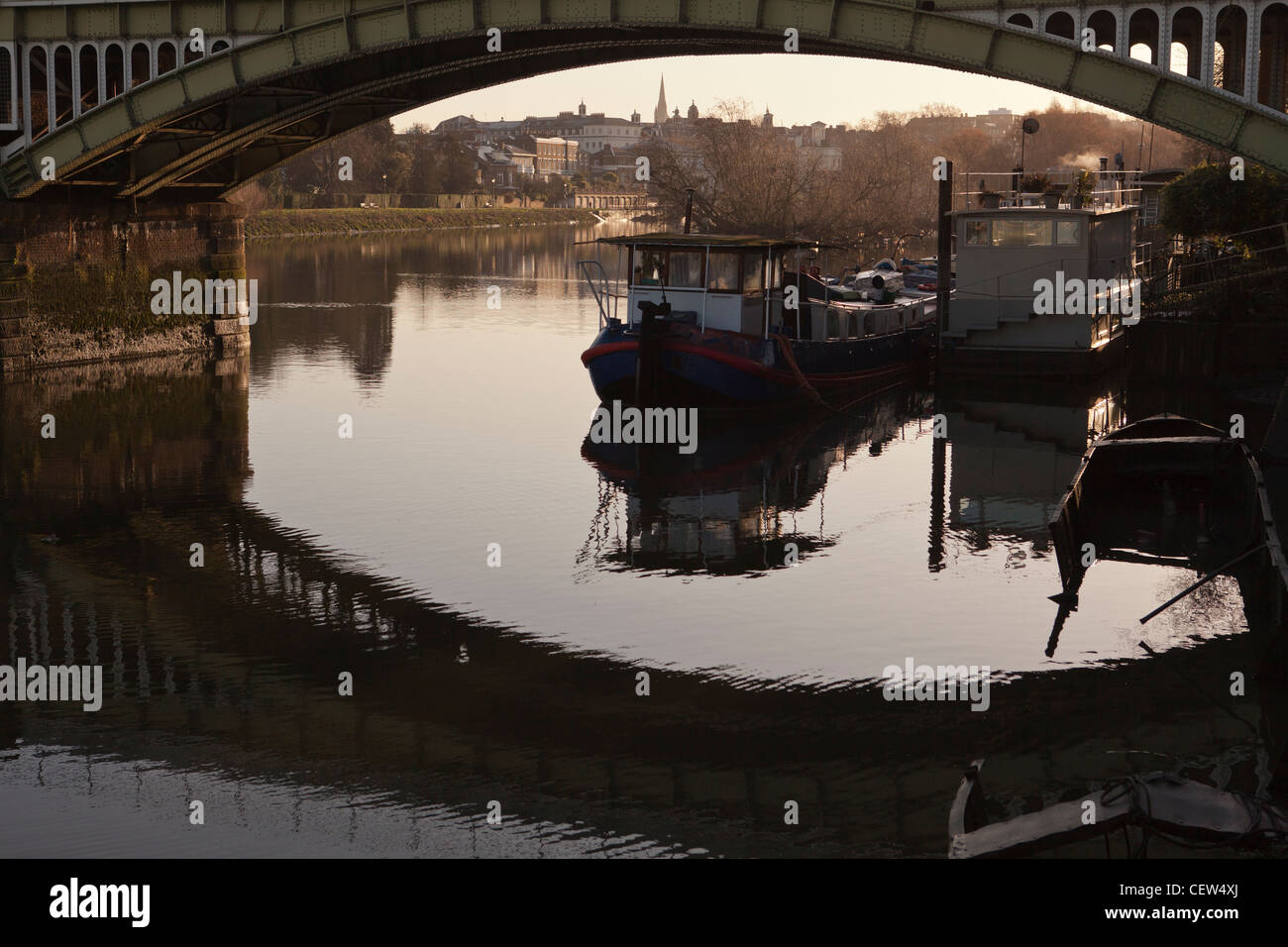 Twickenham Bridge on the river Thames at Richmond Upon Thames,England - Stock Image