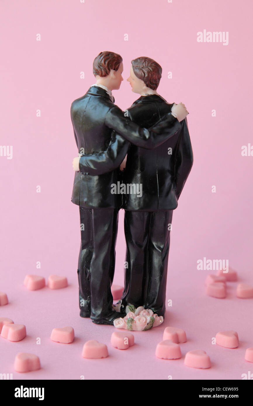 A homosexual couple - Stock Image