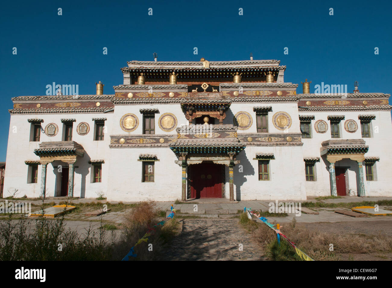 temple at Erdene Zuu Monastery in Central Mongolia - Stock Image