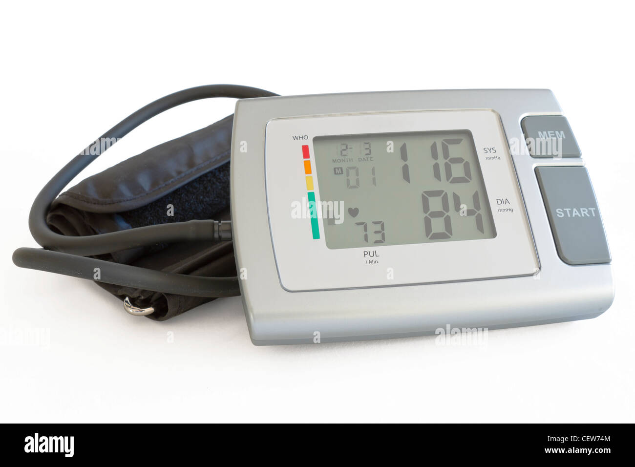 Healthcare Blood Pressure Monitoring - Stock Image