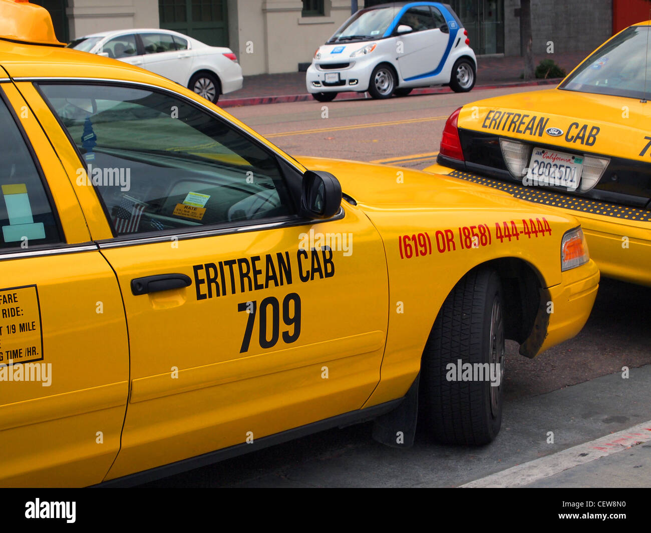 Cab San Diego >> Eritrean Cab San Diego California Usa Stock Photo