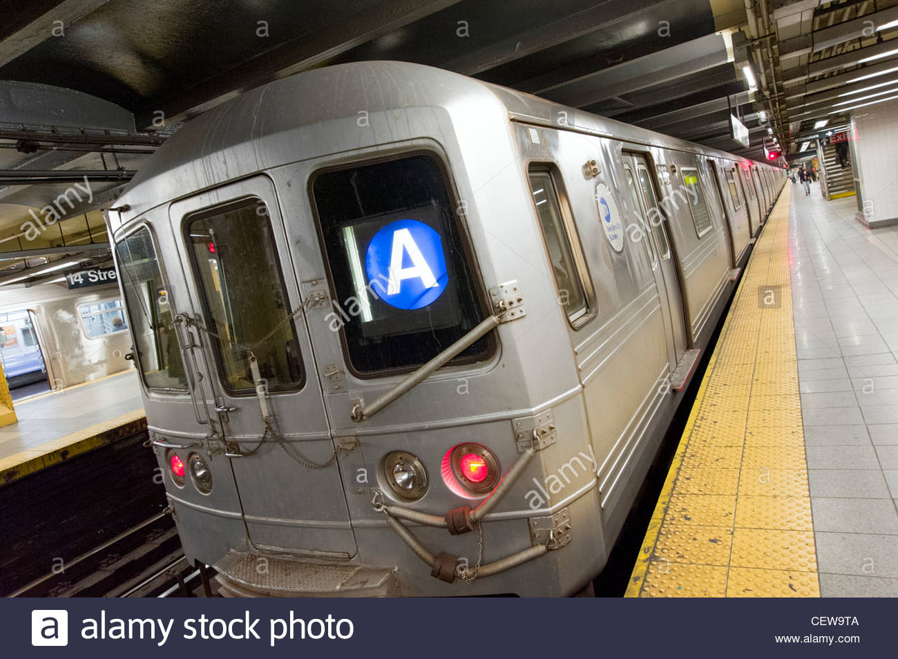 The A train New York subway line, New York City, America, USA - Stock Image