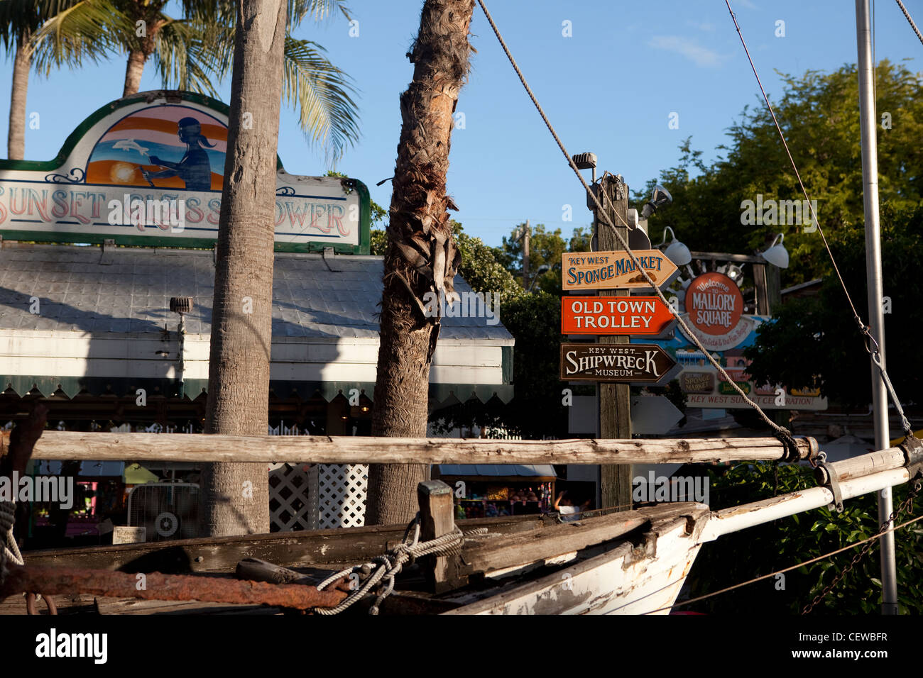 Mallory square, Key West, USA - Stock Image
