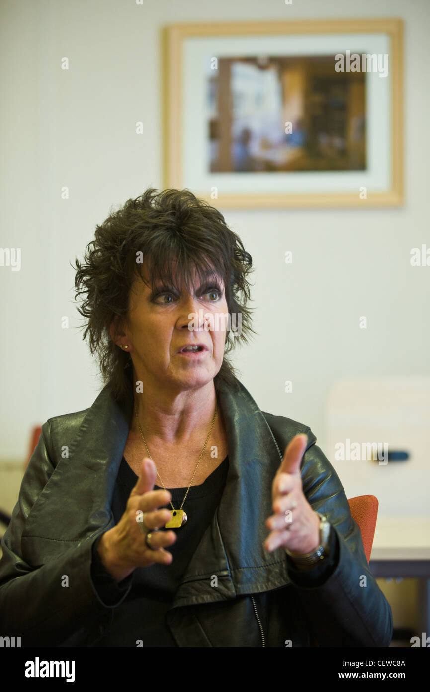 Meri Huws Chairwoman of the Welsh Language Board and Welsh Language Commissioner Stock Photo