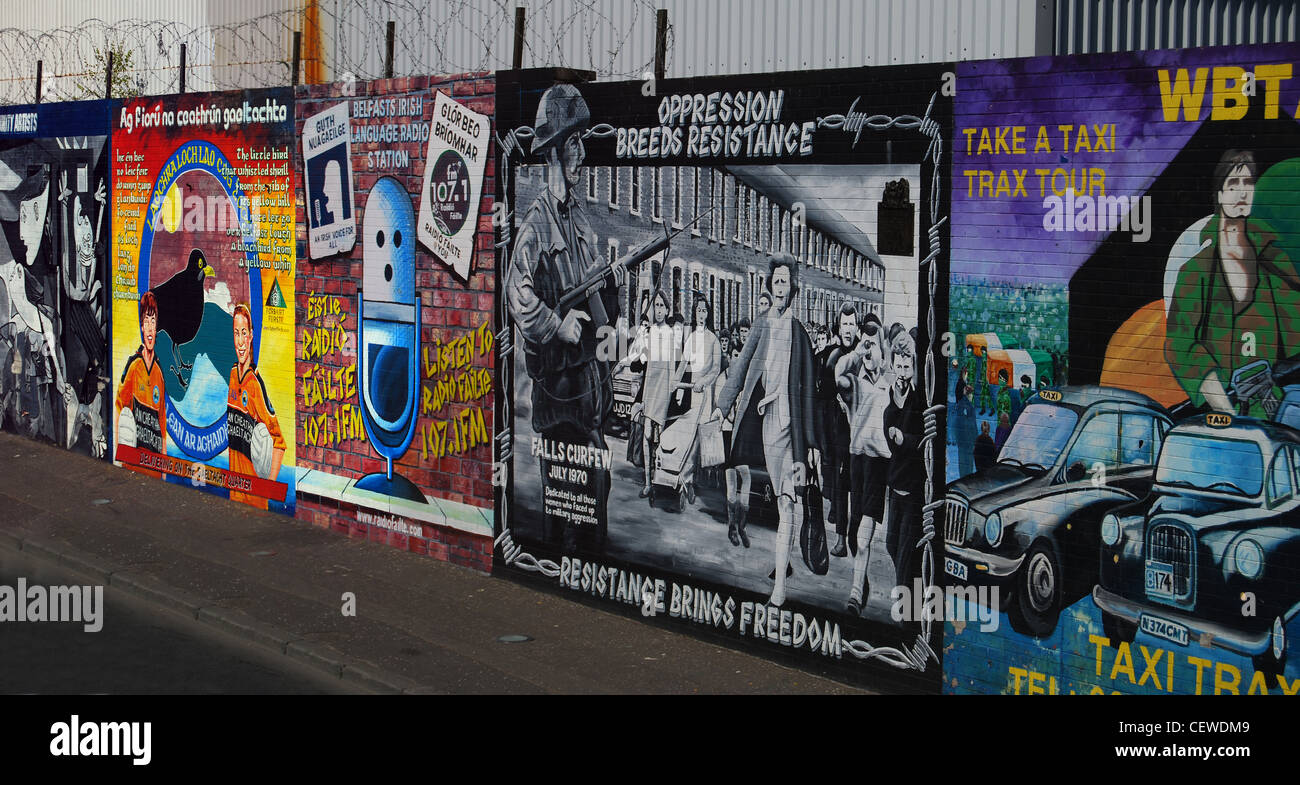 Belfast peace wall number - Stock Image