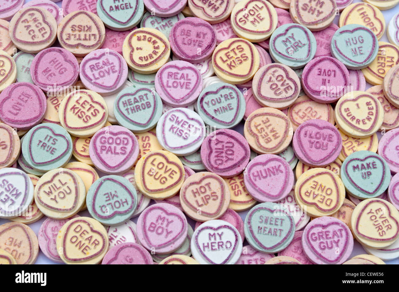 love heart sweets stock photos & love heart sweets stock images - alamy