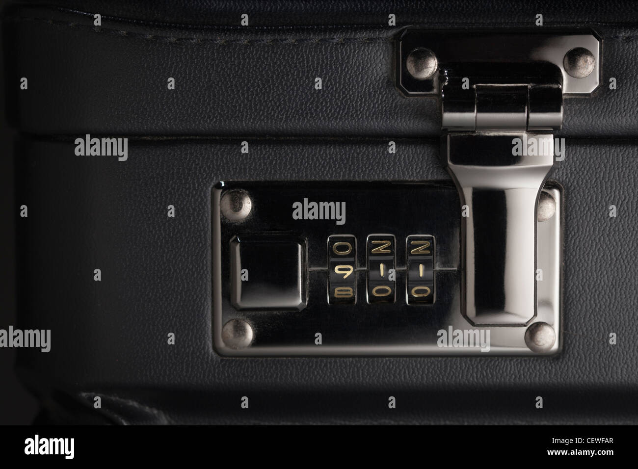 Briefcase Abstract with the Numbers 911 on Lock. - Stock Image