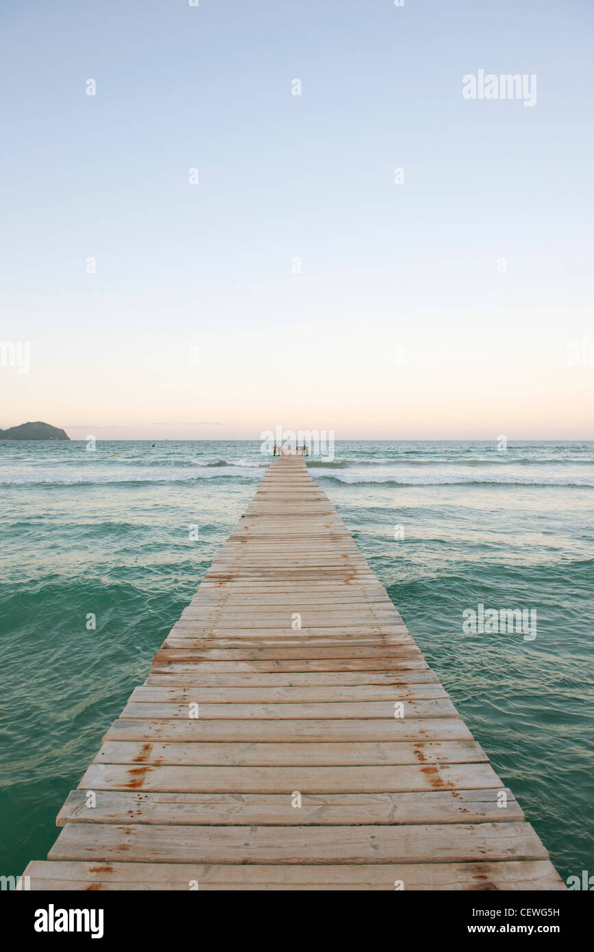 Pier over water - Stock Image