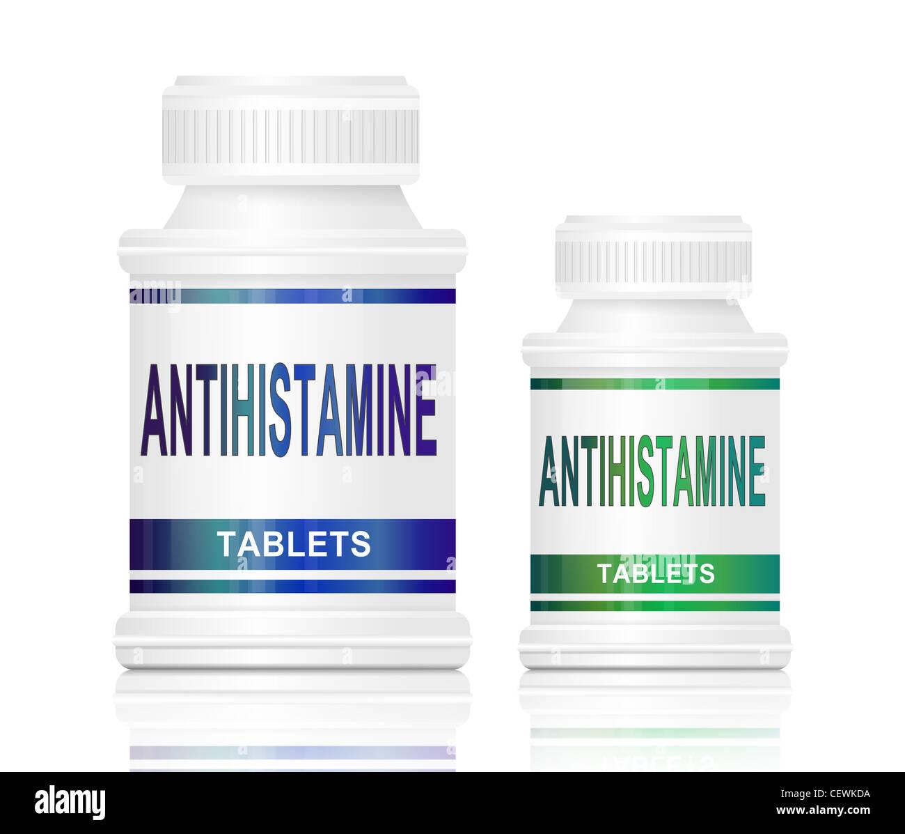Antihistamine tablets. - Stock Image