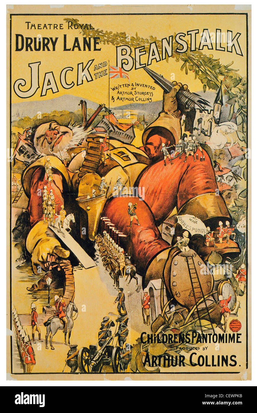 1899 Jack and the Beanstalk at Drury Lane Theatre royal - Stock Image