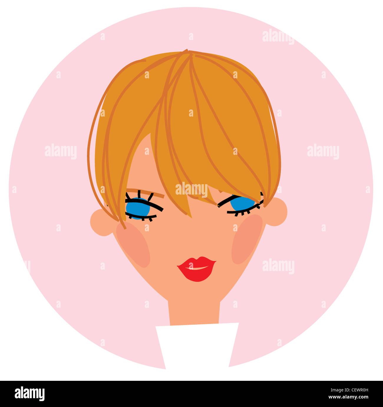 Fringe Hairstyles Stock Photos Fringe Hairstyles Stock Images Alamy