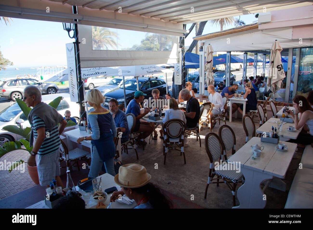 Sandbar at the Grand - Cafe in Camps Bay - Stock Image