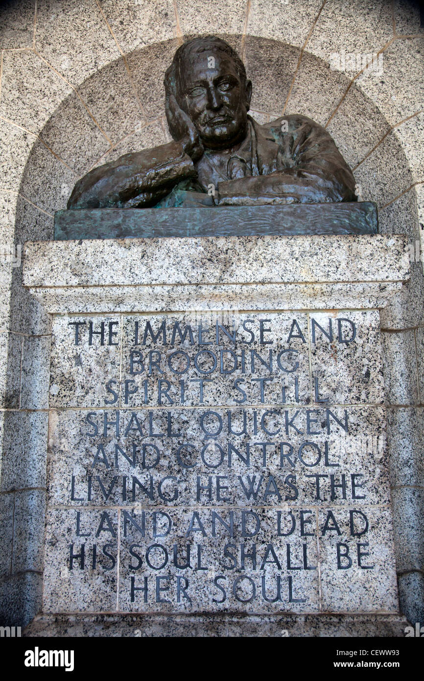Rhodes Memorial bust - Cape Town - Stock Image