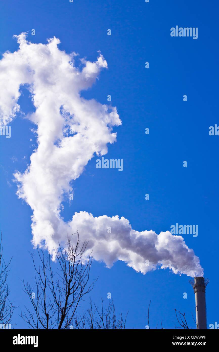 the smoke like a dragon - Stock Image