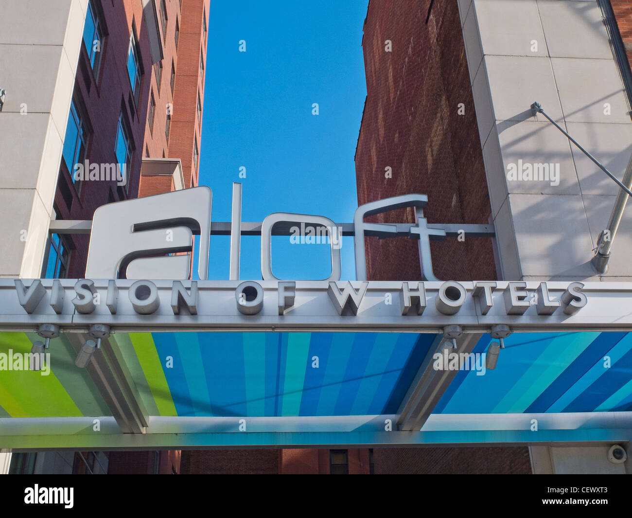 Aloft hotel in Harlem NY - Stock Image