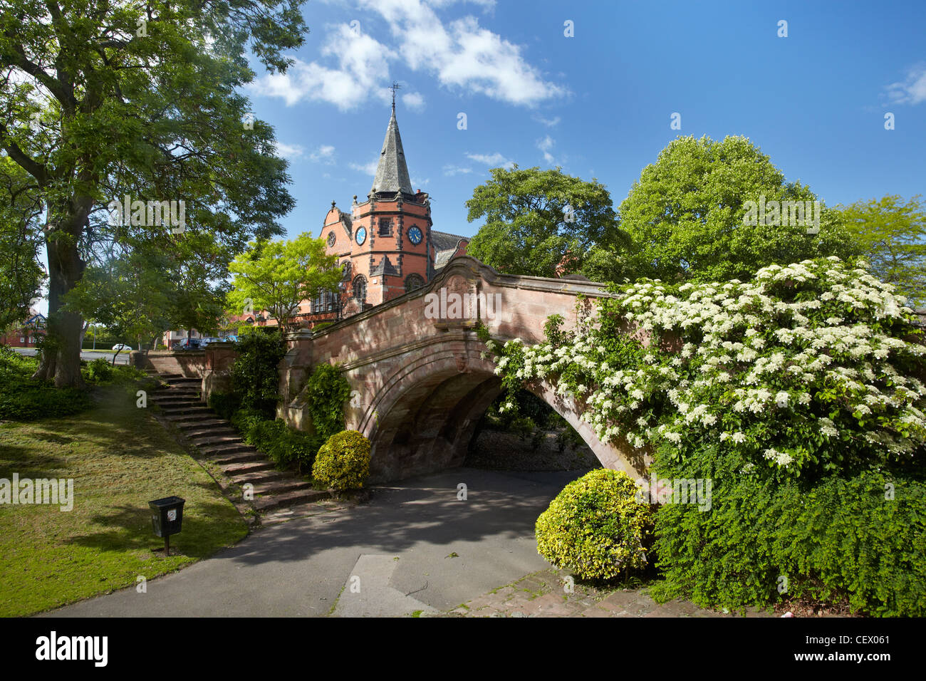 The Dell, Port Sunlight, Wirral, UK - Stock Image