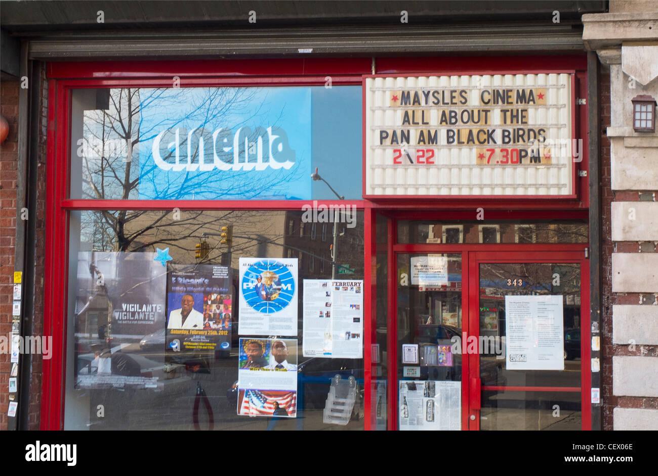 Maysles cinema sign - Stock Image