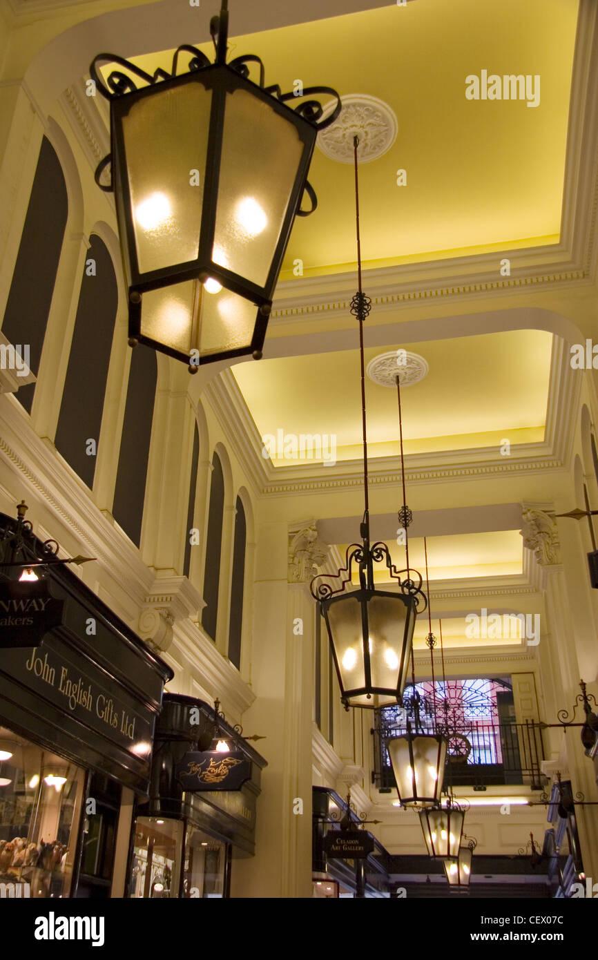 Interior of Princes Arcade, Kensington London. - Stock Image