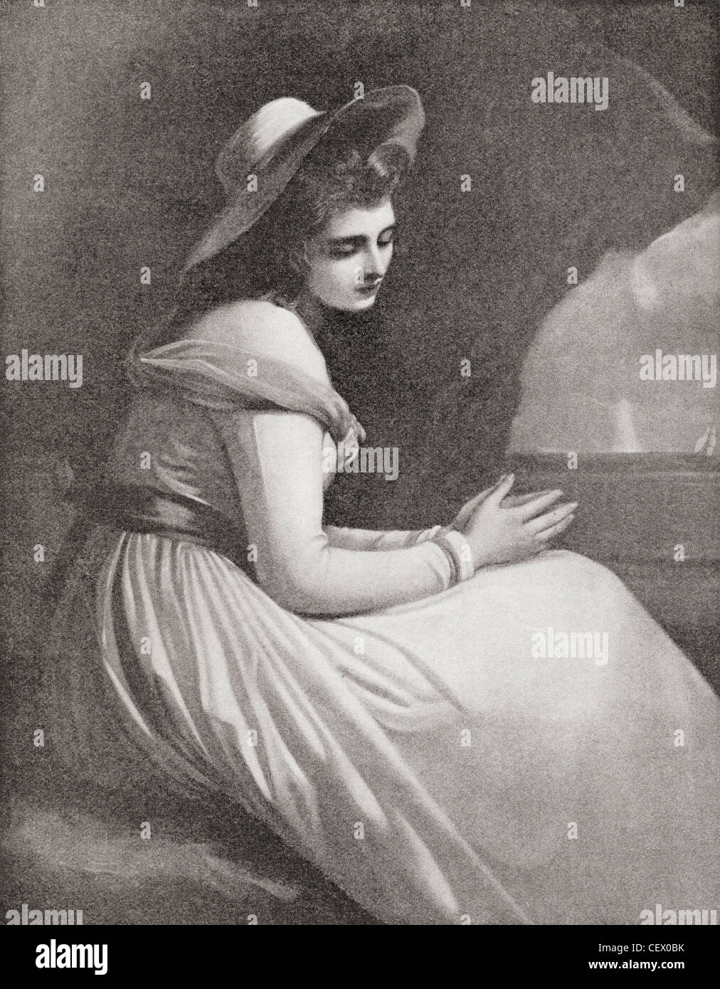 Emma, Lady Hamilton, 1765 - 1815. Mistress of Lord Nelson. From The Strand Magazine published 1897. - Stock Image