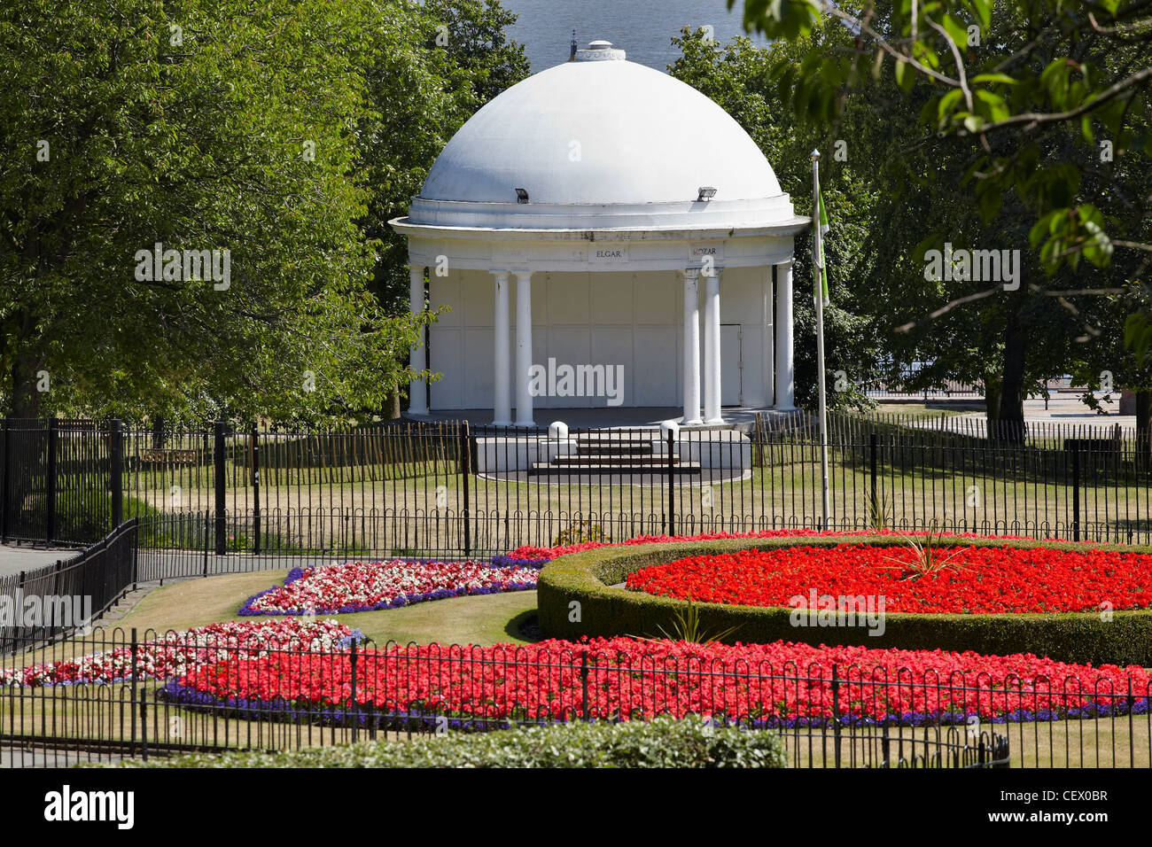 The Bandstand at Vale Park, New Brighton, Wirral, Merseyside, UK - Stock Image