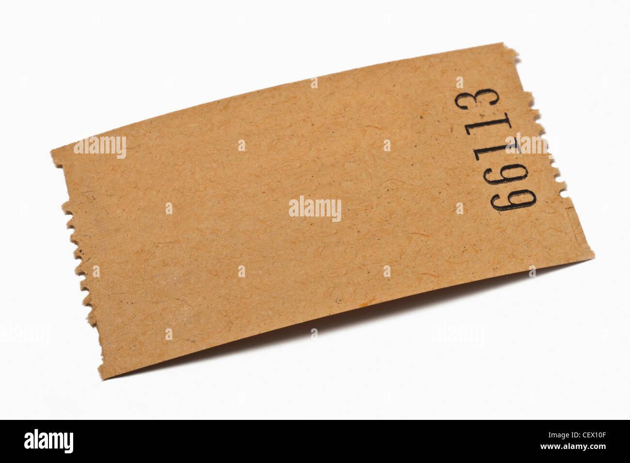 Detailansicht einer Karte aus Papier ohne Aufschrift | Detail photo of a paper card without inscription - Stock Image