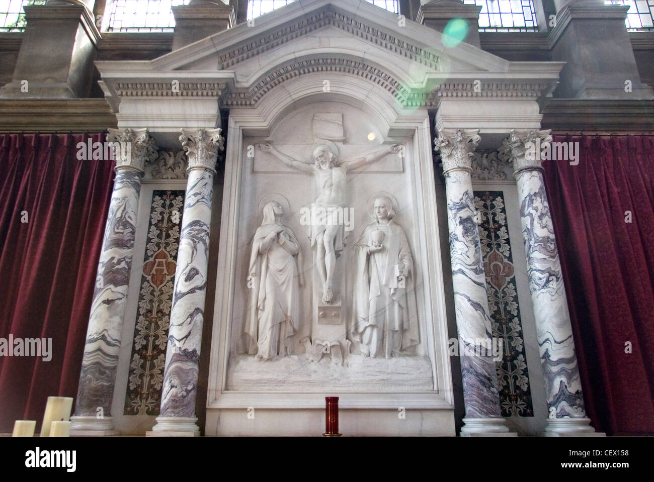 Altar piece of Hertford College Chapel, Oxford - Stock Image