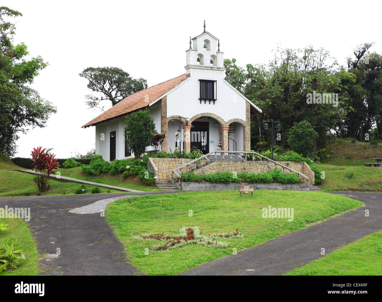 Wedding chapel stock photos wedding chapel stock images alamy la mariana wedding chapel villa blanca los angeles cloud forest reserve costa rica central america junglespirit Image collections