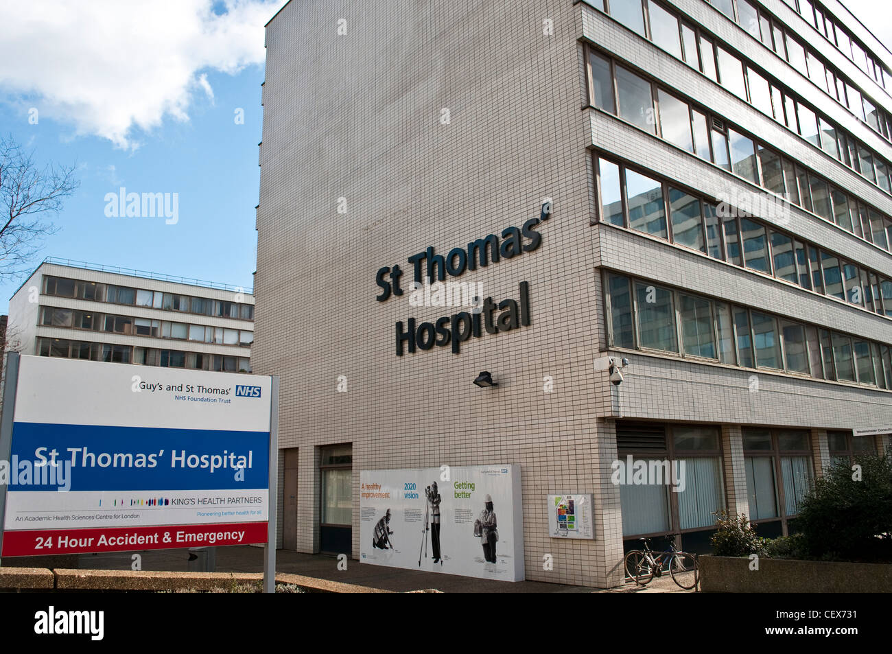 St Thomas' Hospital, London, UK - Stock Image