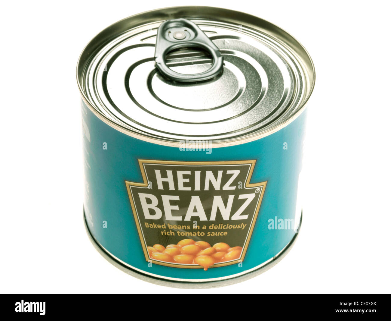 Tin Of Baked Beans Stock Photo Alamy