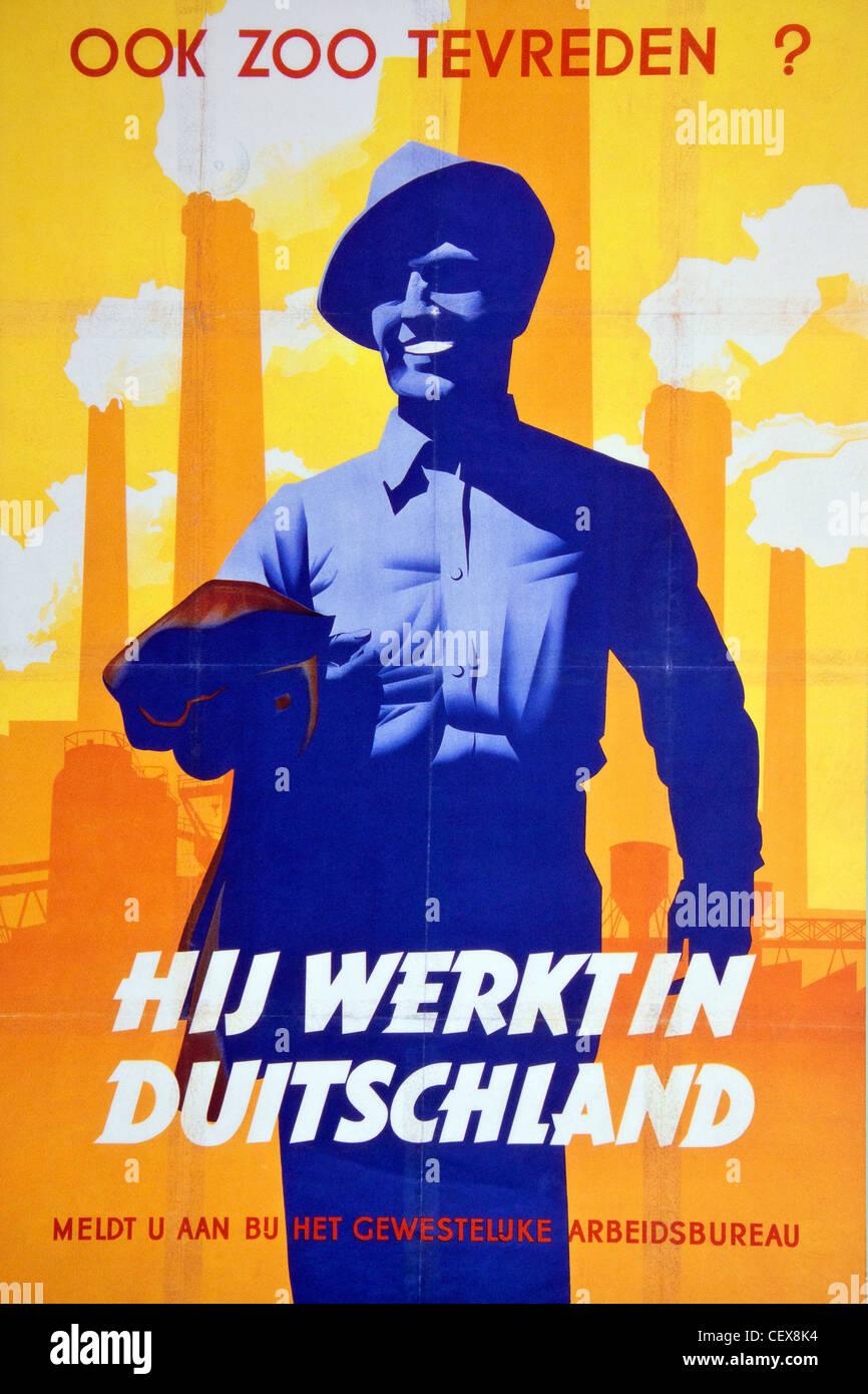 A German wartime propaganda poster. - Stock Image