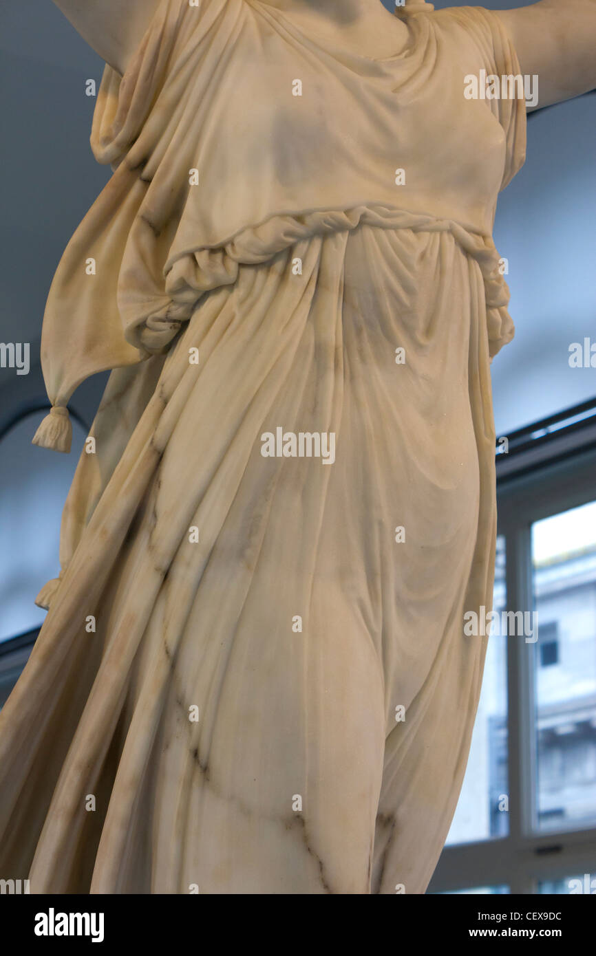 Dancer, marble sculpture by Antonio Canova, Bode Museum, Germany Stock Photo