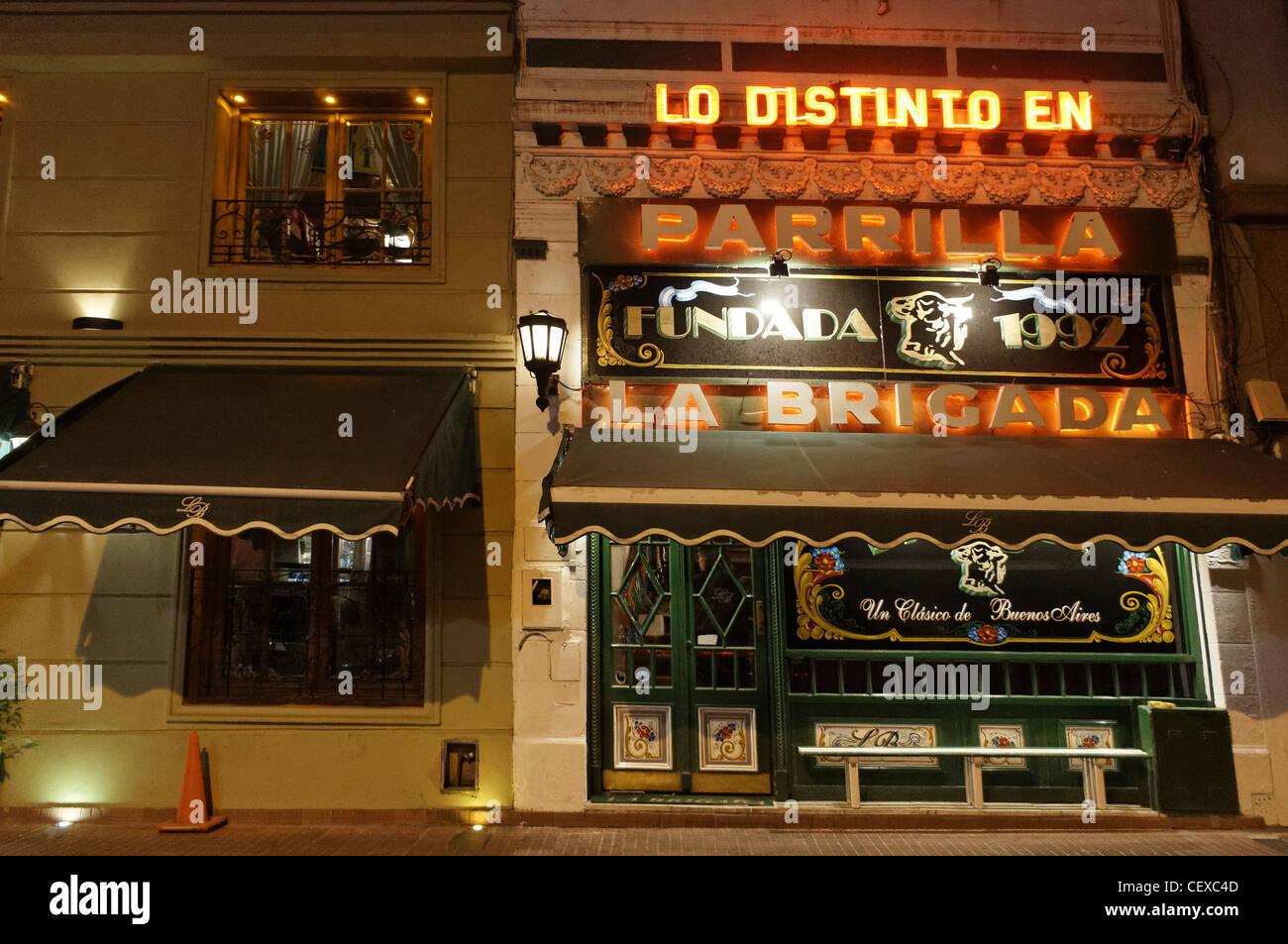La Brigada, Parilla Steak House, San Telmo, Buenos Aires, Argentina - Stock Image